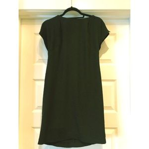 Calvin Klein Simple Black Cap Sleeve Dress- Size 2